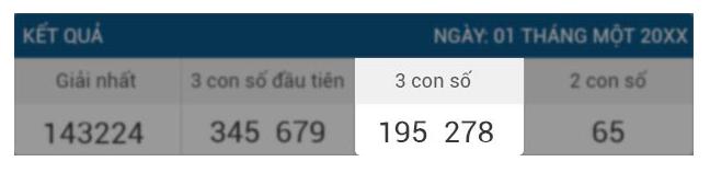 3 con số cuối cùng trong xổ số Thái Lan 888b